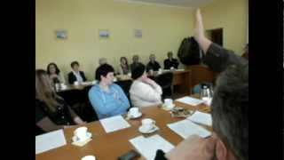 Jeziorany - posiedzenie Komisji Rady Gminy - w sprawie protestu mieszkańców