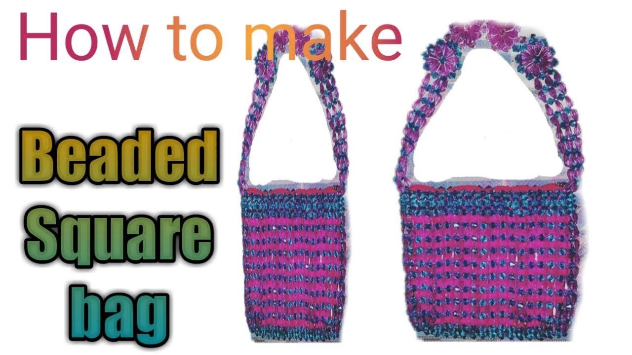 👜How to make beaded bag - YouTube