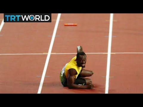 Bolt's Last Run: Usain Bolt crashes out of his last ever race