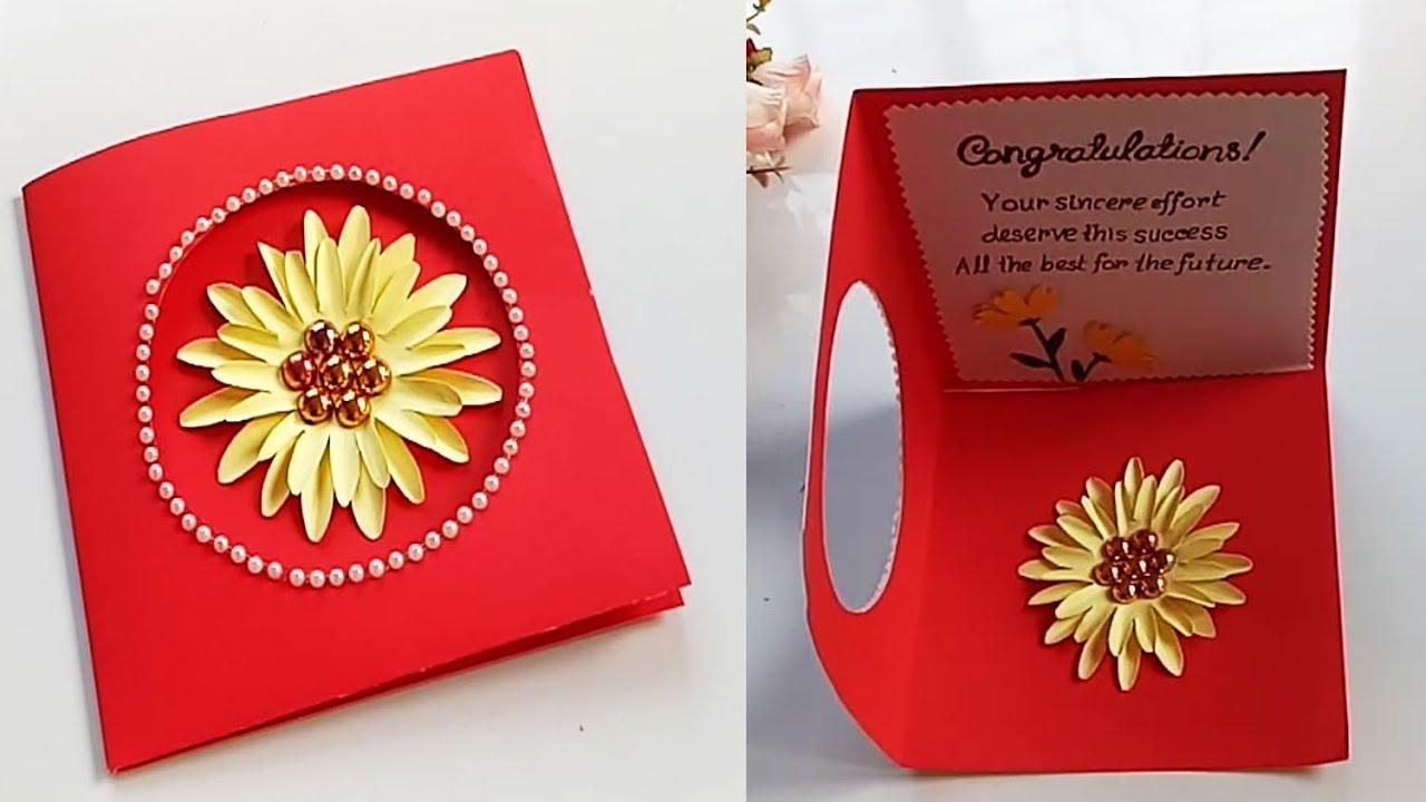 Greeting Card Making Ideas - congratulation card - YouTube