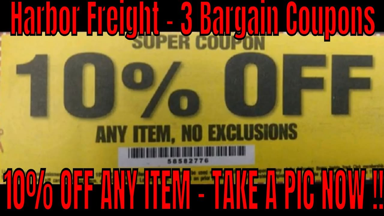 Harbor Freight 3 Discount Coupons 10 Off Anything Youtube