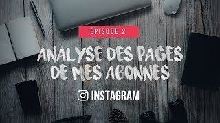 Analyse de pages Instagram | #002