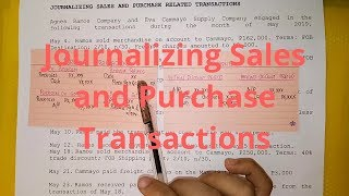 Basic Accounting- Journalizing Sales and Purchase Transactions (Part 1)