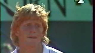 Henri Leconte vs Boris Becker Roland Garros 1988 4th round