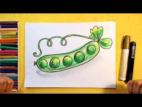 Как нарисовать горох для детей