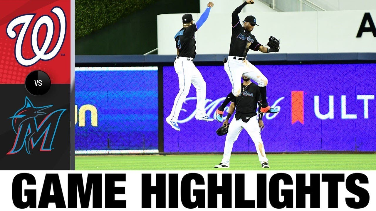 Brian Anderson hits 3 homers in Marlins' 14-3 win | Nationals-Marlins Game Highlights 9/18/20