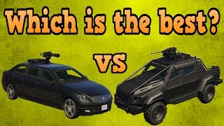 GTA online guides - Turreted limo VS Insurgent pickup