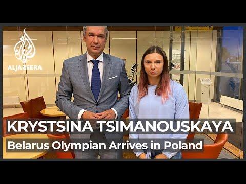 Belarusian Olympian Krystsina Tsimanouskaya lands in Poland