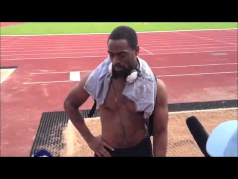 Tyson Gay Training In Birmingham