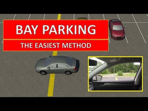Learn how to PARK IN A BAY. The easiest video lesson (by Parking Tutorial)
