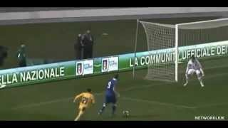 Ciro Immobile scores a terrific goal for Italy U21 vs Ukraine U21 2013