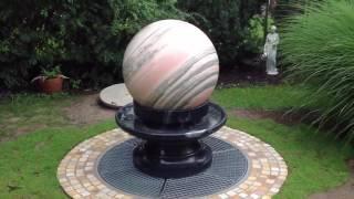 NATURSTEIN BRUNNEN,Kugelbrunnen Granit drehend