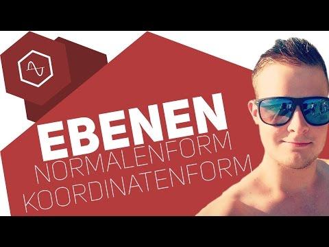 Normalenform & Koordinatenform von Ebenen (+Herleitung)