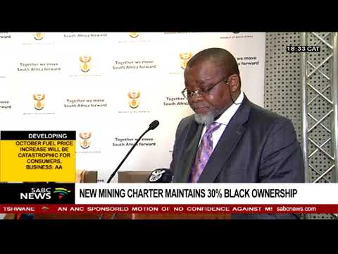 New Mining Charter Maintains 30% Black Ownership