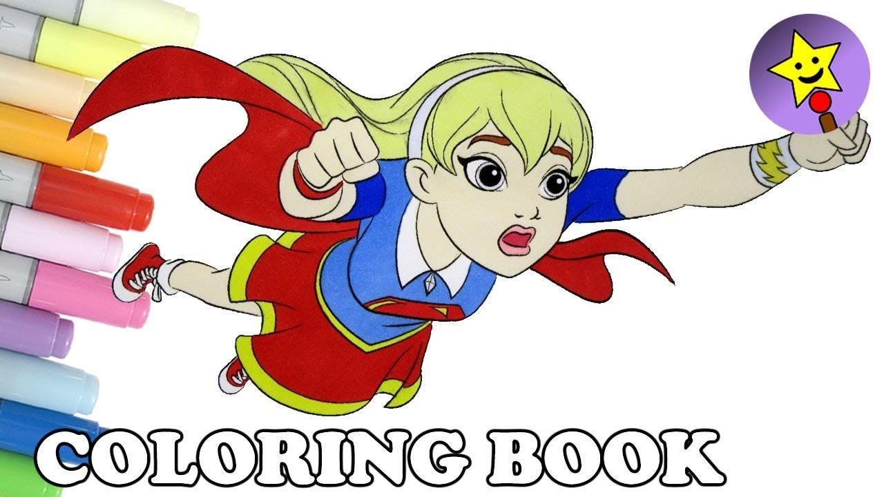 dc super hero girls supergirl coloring book page dc superhero ... - Supergirl Coloring Pages Kids