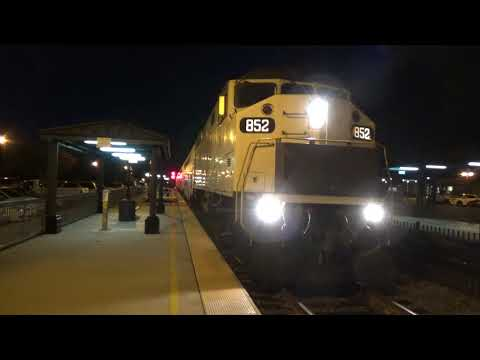 Nighttime at The Orange Metrolink Station - S.B. Commuter Train To Oceanside