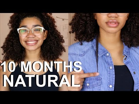 10 MONTHS NATURAL HAIR UPDATE + LENGTH CHECK