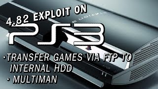 How to FTP games to your PS3 | PS3Xploit - 4.82 CFW | Multiman | Gran Turismo 5