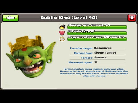 Clash Of Clans Goblin King Update Townhall 11 Confirmed As Well?
