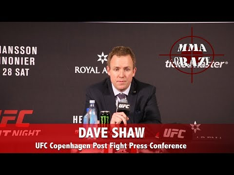 UFC Copenhagen: Dave Shaw Post Fight Press Conference