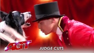 Lucas & Falco: The Dog Act SLAYS Simon Cowell's Favorite Movie | America's Got Talent 2019