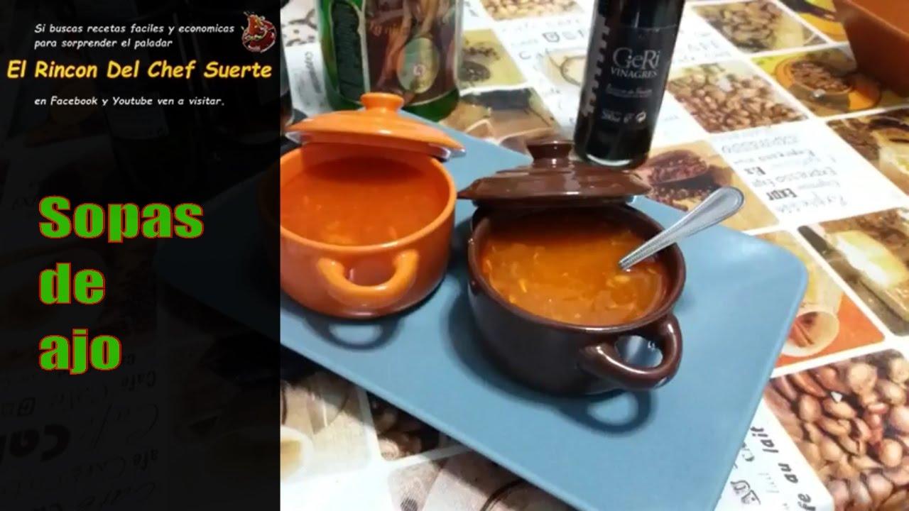 Como hacer sopa de ajo o castellana la cocina casera del - Sopa castellana youtube ...