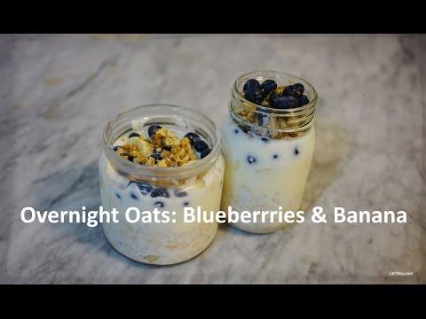 Overnight Oats Recipe: Blueberries & Banana