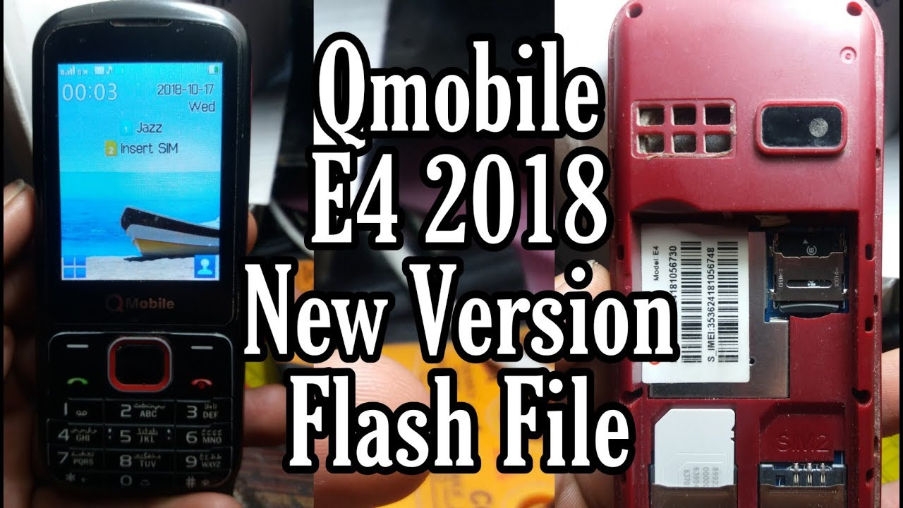 Qmobile E4 2018 New Version Flash File 100% Work Tested