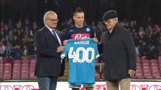 Premiazione Marek Hamsik 400 presenze in azzurro