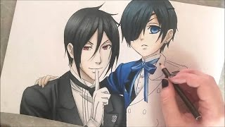 Ciel & Sebastian Speed Drawing (Black Butler)