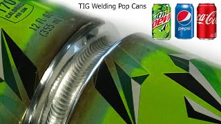 How to TIG Weld Aluminum Pop Cans / Soda Cans - The Trick