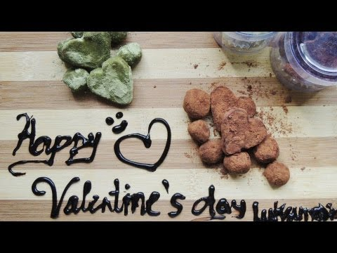Heart Shaped Chocolate Truffles (Dark Chocolate & Green Tea Truffles) Valentine Recipe