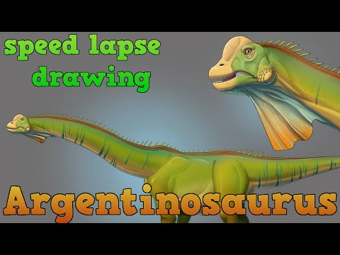 Zoosparkle - Speed Lapse Argentinosaurus huinculensis (by Federica Messina)