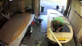 Denizen Teardrop Trailer Build — Installing Hinges