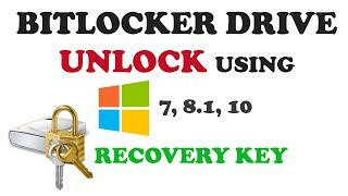 How to unlock Bitlocker drive using recovery key and disable it