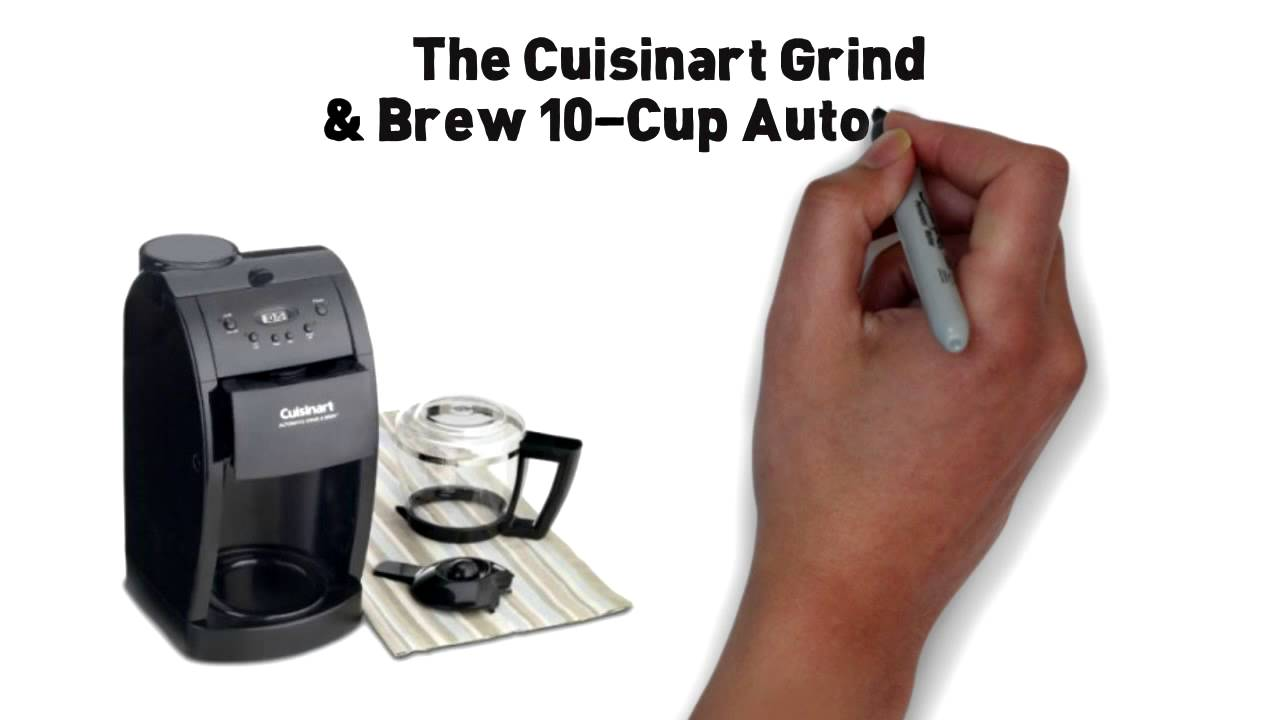 Cuisinart Coffee Maker Quit Brewing : Cuisinart DGB-600BC Grind & Brew 10 cup Coffee maker - YouTube