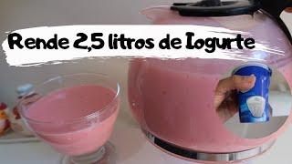 Iogurte Caseiro de Morango