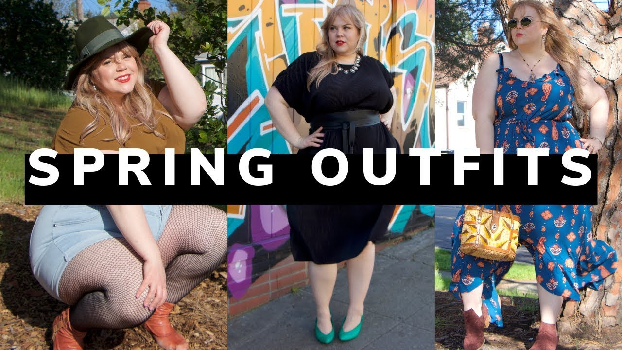 outfits for spring with City Chic Madewell Torrid Plus Size Style 1