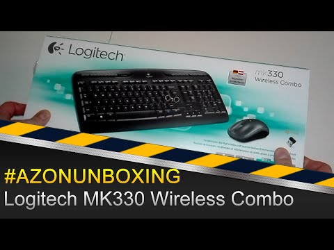Logitech MK330 Wireless Combo Tastatur und Maus - #AZONUNBOXING Deutsch/German