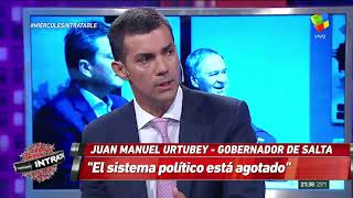 "Video: Urtubey en Intratables ""El sistema político está agotado"""