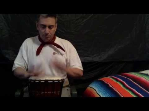 Megalife21 Internet Talk Show Broadcaster James P. Madonna Playing His African Drum for the Group