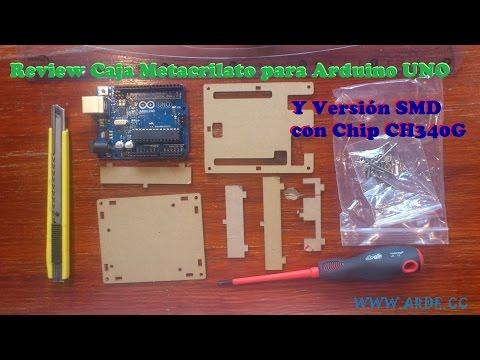 Review Caja Metacrilato Arduino UNO y SMD chip CH340G