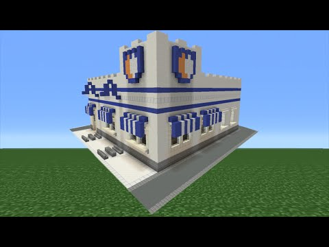 Minecraft tutorial how to make a white castle fast food for How to build a house cheap and fast