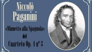 Niccolò Paganini: II. «Minuetto alla spagnola» del Cuarteto con guitarra, Op. 4 nº 3 (1806)