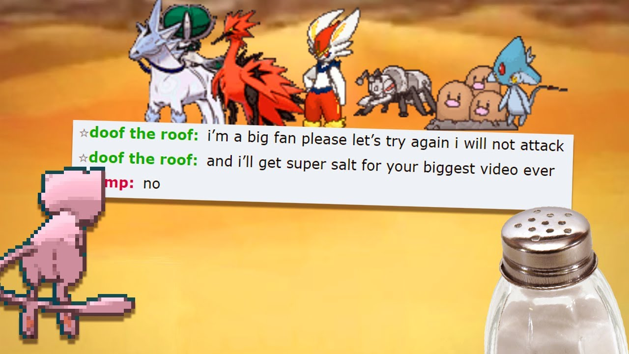 dont pretend to be salty like this guy on pokemon showdown...