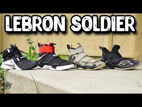 Nike Lebron Soldier Line Comparison!
