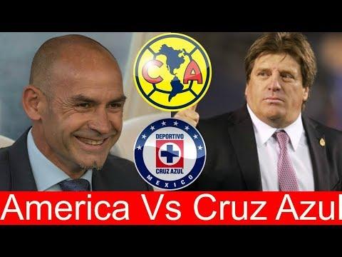 Las Alineaciones De AMERICA Y CRUZ AZUL Para La COPA MX