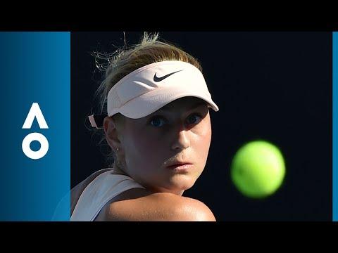 Shuai Peng v Marta Kostyuk match highlights (1R) | Australian Open 2018