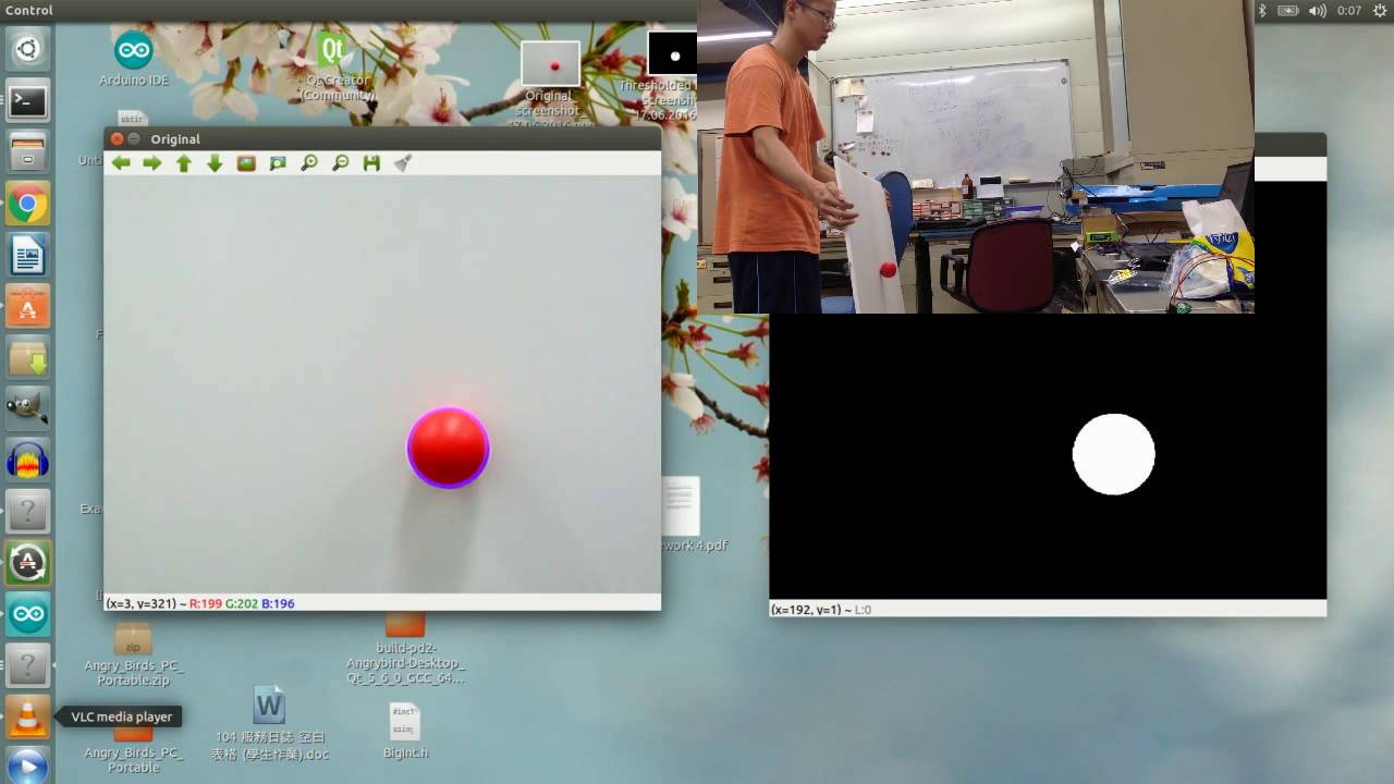 ROS + OpenCV - Real Time Ball Tracking