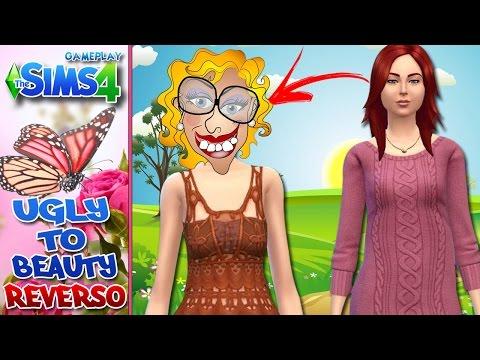 The Sims 4 com Facecam - Ugly to Beauty #7 - REVERSO - Detonando um Sim para a GALÁXIA AZUL